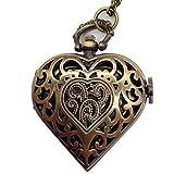 Steampunk Kette mit Uhr in Herzform