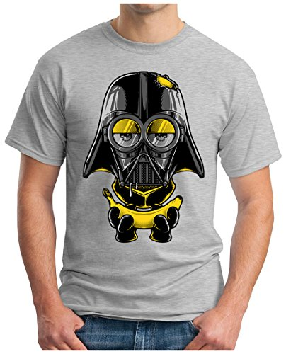 OM3 - MINI-VADER - T-Shirt, S - 5XL Grau Meliert