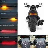 Teguangmei Motorcycle Flexible Strip Light Red + Yellow 48 LED LED Turn Signal Light/Running Light/Tail Light/Brake…