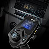 Upgraded-Version-Nulaxy-Wireless-In-Car-Bluetooth-FM-Transmitter-Radio-Adapter-Hands-free-Talking-Car-Kit-with-144-Inch-Display-and-Dual-Port-USBSupport-MP3-WMA-music-on-the-SD-card-and-USB-Flash-Driv