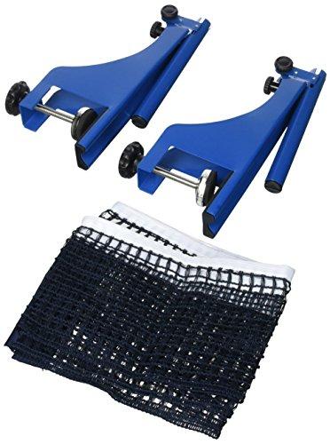 Relaxdays Metall zum Schrauben HB: 19,2 X 23,5 Tischtennisgarnitur Ping Pong Netz TT Ersatznetz Outdoor Tischtennisnetz, Blau, 15 x 170 cm