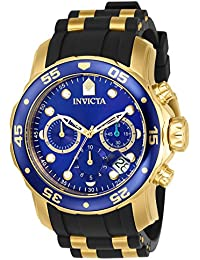 Invicta Pro Diver Men's Chronograph Quartz Watch with Silicone Strap – 17882