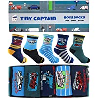Boys Socks Ages 4-6 Cars Dinosaur Funny Boy Cotton Warm Sock Variety 5 Pack Gift Sets