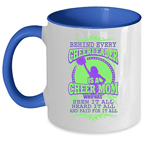 COOL pom-pom girl Mug à café, Derrière chaque pom-pom girl est une Cheer Mom Accent Mug Mug 11 Oz Accent Mug - Blue Pdf - ePub - Audiolivre Telecharger