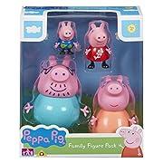 Crea le tue storie di Peppa Pig con il pacchetto della famiglia Peppa Pig. Include 4 figure articolate: maiale mummia, maiale papà, maiale Peppa e maiale George. Gli stili possono variare.