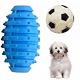 #8: SRI High Quality Natural Rubber Colorful Drum And Football Toy For Puppy - Small (BLUE)