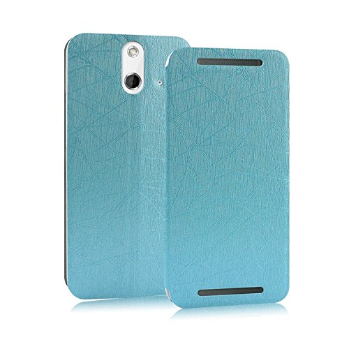 Heartly Premium Luxury PU Leather Flip Stand Back Case Cover For HTC One E8 - Blue
