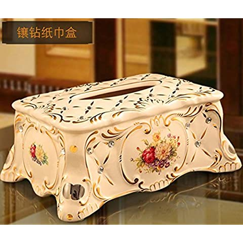 YUENLONG Creative continentale salotto mobili cartucce ceramiche tirare multifunzione vassoio ammettere ammettere il telaio , carta diamantata box