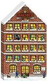 Hachez Adventskalender in Form eines Hauses mit Pralinen und Chocoladen gefüllt, 1er Pack (1 x 180...