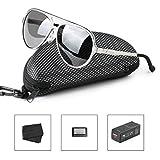 HODGSON Herren Sonnenbrille polarisiert für Damen und Herren UV400 Schutz Aviator Pilotenbrille Metallrahmen für Autofahrer, Outdoor Sport usw. in Grau und Silber