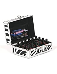Urbanity Nail Polish Bottle Varnish Beauty Cosmetic Makeup Vanity Carry Case Briefcase Box Zebra
