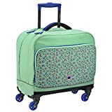 DELSEY PARIS Back To School 2017 Cartable, 43 cm, 42 L, Vert de Bleu Fleurs