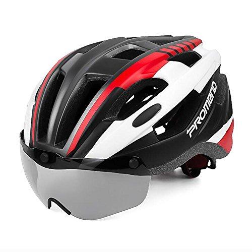 MIAO Fahrrad-Helm-Outdoor Berg / Rennrad Magnetische Saugband Goggles Radfahren Schutzausrüstung , red