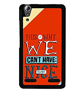 printtech Nice Things Quote Back Case Cover for Huawei Honor 6 Plus ,