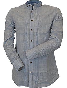 OS Trachten by Orbis Slim Fit Trachtenhemd mit Stehkragen Traun
