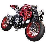 Meccano Elite Motorcycle Ducati - juegos de construcción (Vehicle erector set, 10 año(s), 292 pieza(s), Negro, Metálico, Rojo, Metal, China)