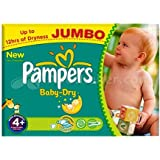 Fermeture en vente Pampers Baby Dry couches Taille 4  + Jumbo Lot 76 couches