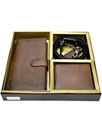 [Sponsored]Vanalika Combo Of Ticket Holder,wallet,belt And Key Ring(Gift Set Made Of Leatherite)