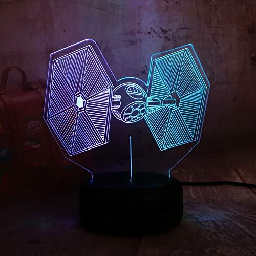 MLSWW 3D Nachtlicht Krawatte Kämpfer 3D LED 7 gemischt Dual Farbwechsel Schreibtisch Lampe Nachtlicht Geburtstag Weihnachtsgeschenk Schlafzimmer Dekor