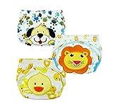 XHtrade 3Pcs nette Baby Kinder Training Pants Potty WC Hosen waschbare Tuch Windel Windel Unterwäsche