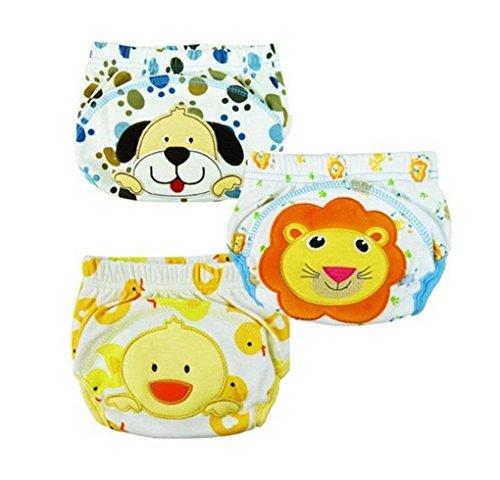 XHtrade 3Pcs nette Baby Kinder Training Pants Potty WC Hosen waschbare Tuch Windel Windel Unterwäsche Test