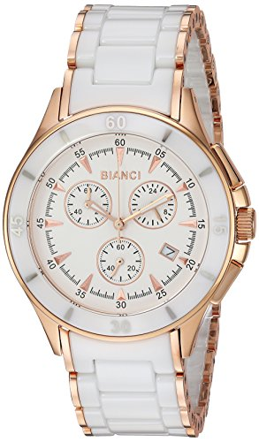 ROBERTO BIANCI WATCHES Women's 'Florenca' Swiss Quartz Stainless Steel and Ceramic Casual Watch, Color:Two Tone (Model: RB58731)