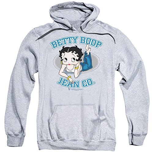 2Bhip Betty 1930s Boop Cartoon American Icon Jean CO Adult Pull-Over Hoodie
