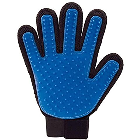Chickwin ~ Grooming Massage Glove , Pet Dog Cat Grooming Glove Hair Remover Brush Clean Glove (blue)