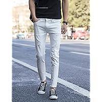 YYNANKU TT&MEN'S PANTS Männer sind normal in der Mitte>75% Jeans Hosen, Vintage feste Baumwolle Leinen Bambusfaser Acryl Frühling