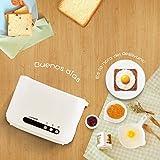 Aigostar Brotchen Weiß 30HMC - Toaster, 850W, 2-Scheibe mit einstellbarer Temperaturregelung, BPA frei. Exklusives Design. - 2