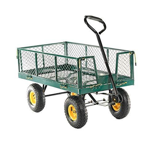 HENGMEI Bollerwagen Gartenwagen Handwagen Transportwagen 300kg belastbar für Gärten (Modell A)