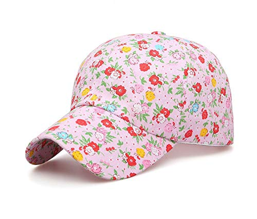 tze Baumwolle,Frühling Sommer Blume Rosa Hintergrund Baseball Cap Graffiti Cap Freizeitaktivitäten Hat Hip Hop Sun Visor Cap ()