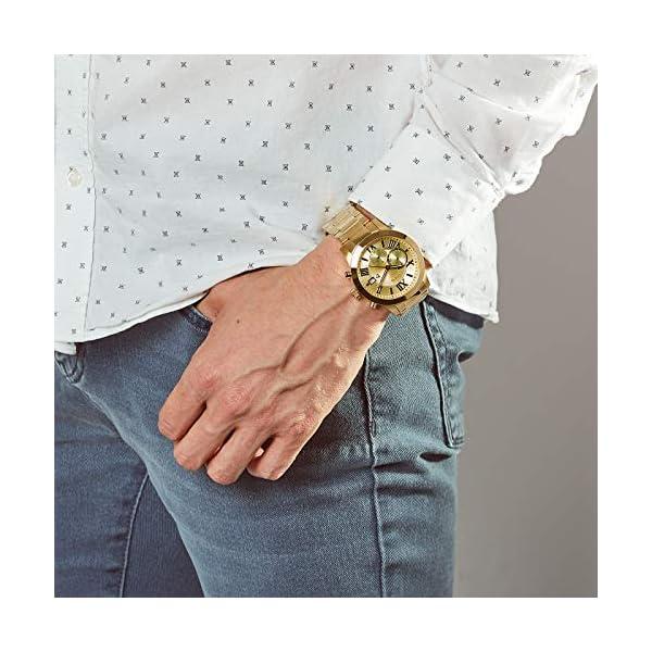 Guess Reloj Analógico para Hombre de Cuarzo con Correa en Acero Inoxidable