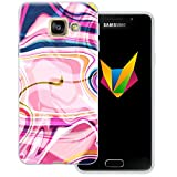 Mobilefox Liquid transparente Silikon TPU Schutzhülle 0,7mm dünne Handy Soft Case für Samsung Galaxy A3 (2016) Liquid Pink - Verlauf Hülle Cover Gel