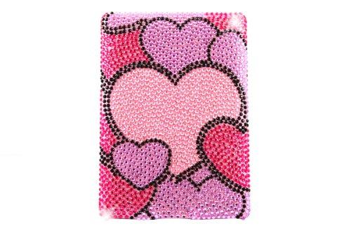 Fällen Herz Tablet (Aquarius Premium Hand Made Diamonte Fall mit LCD-Displayschutzfolie und Mikrofaser-Reinigungstuch für Kindle 42011–Herzen Medley)