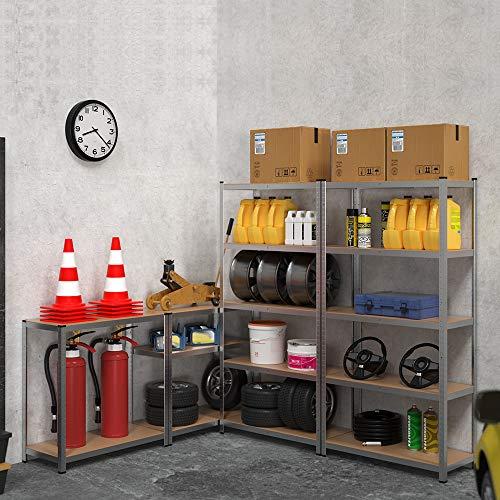 Lagerregal Regal Steckregal Kellerregal Werkstattregal Schwerlastregal Werkbank 875 KG Tragkraft Stecksystem - 2