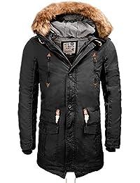 !Solid Hommes chaud doublé Parka Hiver Parka avec capuche à capuche Probert Manteaux Blousons S M L XL XXL