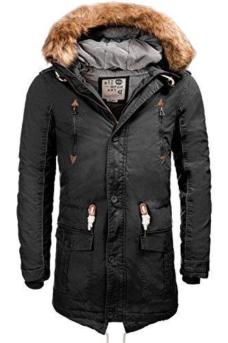 !Solid Hommes chaud doublé Parka Hiver Parka avec capuche à capuche Probert Manteaux Blousons S M L XL XXL Gris
