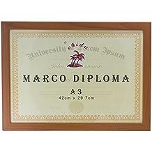 Marco marrón para diploma A3 de 29,7 x ...