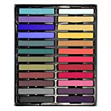 Temporary Hair Chalk - Non-Toxic Rainbow Colored Dye Pastel Kit- Color Essentials Set (24 COUNT) - BIG BOUNS (3 Pairs Disposable Gloves & 3 Disposable Shawls) by SySrion