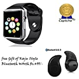 Sony Xperia Z3+ Compatible Ceritfied Bluetooth Smart Watch A1 Bluetooth Waterproof GSM SIM Phone Smart Watch For Android, IOS, & Smart Phones(Assorted Color) with FREE GIFT