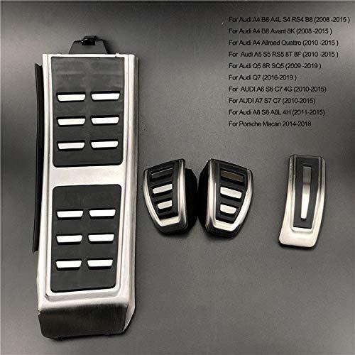 LUVCARPB Pedali Freno Auto Copertura Pedali Pastiglie Auto, Adatte per Volkswagen Touareg Golf 7 Polo Tiguan, Adatte per Skoda Kodiaq Rapid, Adatte per Audi A3 A4 A5 A6 A7 Q3 Q7