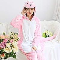 YTNGA Pijamas De Mujer PijamasDisfraz Onesies PijamasRopa de Dormir, Rosa, L