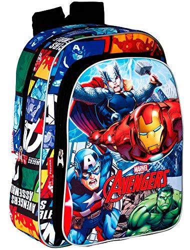 Avengers Assemble Mochila Infantil Escolar, niño