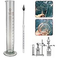 Cilindro medidor de 250 ml de cristal y densidad 0 – 70 para destilar