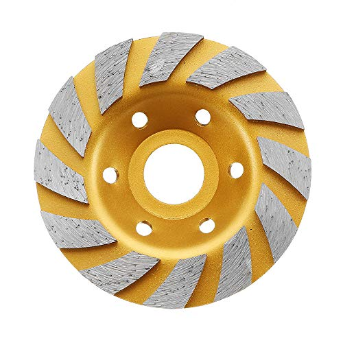 GIlH Drillpro 100x22.23mm Diamond Saw Blade Gold Grinding Wheel for Cutting Concrete Granite (Tile Saw Blade 10)