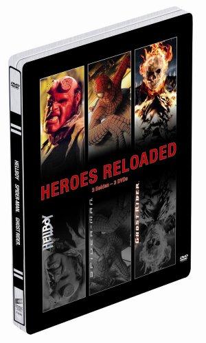Heroes Reloaded: Spider-Man / Hellboy / Ghost Rider (Steelbook) [3 DVDs] (Hellboy 3 Film)