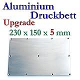 5mm Aluminium Druckbett DruckPlatte Buildplate 230x150x5mm Makerbot Wanhao Flashforge Replicator Duplicator CTC Upgrade