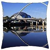 reflection uk gateshead millennium bridge england - Throw Pillow Cover Case (18