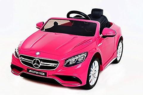Mercedes S63 AMG Voiture-jouet électrique pour enfant, DEUX MOTEURS, pink,